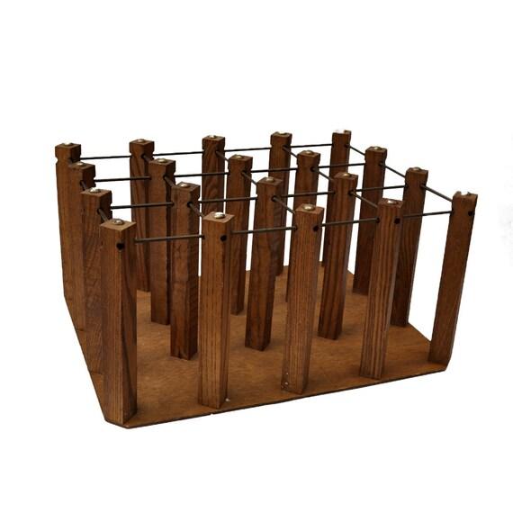 Antique Wood And Metal Wine Rack By Pennyfarthingvintage