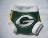 Green Bay Packers Fleece Diaper Cover - Small - Ready To Ship