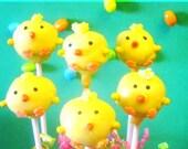 Spring Chick Cake Pops