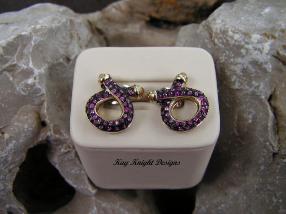 Pink and yellow sapphire earrings by award winning designer Kay Knight