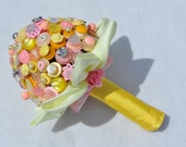 Button Bouquet Dolly Mixtures Bouquet Alternative Bridal Wedding Bouquet