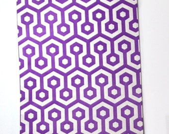 10 purple white paper goodie bags geometric design party supply treat bags gift bags 5 x 7 bags