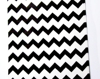 10 black and white goodie bags, chevron treat bags, party favor bags, 5 x 7 paper bags