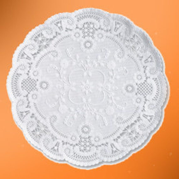 French Paper Doilies- 50 doilies- 8 inch, white