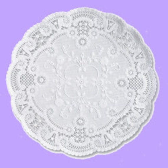 French Paper Doilies- 25 doilies-12 inch, white, large