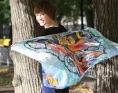 Dreams of butterflies.Silk scarf.