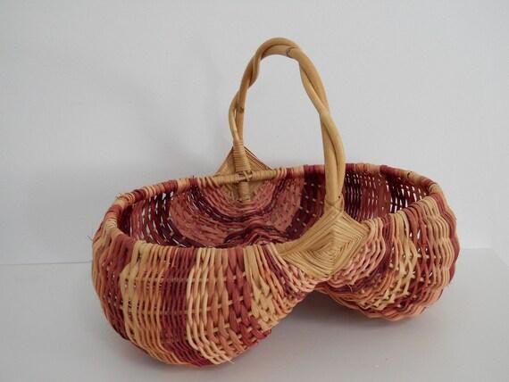Unique Vintage Hand Woven Basket