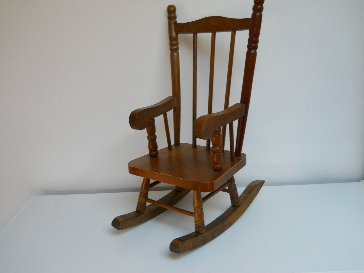 vintage dolls wood rocking chair