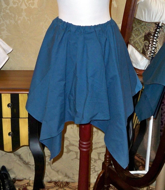 """Dark Teal Pixie Petal Skirt -- 4 Point, 23"""" Point Length -- Fits up to 32"""" Waist"""