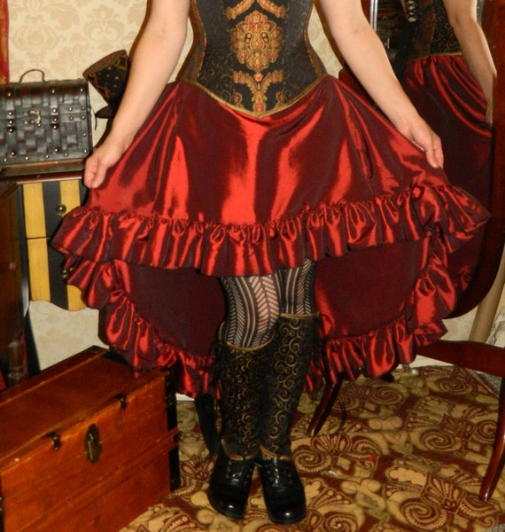 Cecilia Skirt in Taffeta -- Custom Made in Your Size and Color Choice