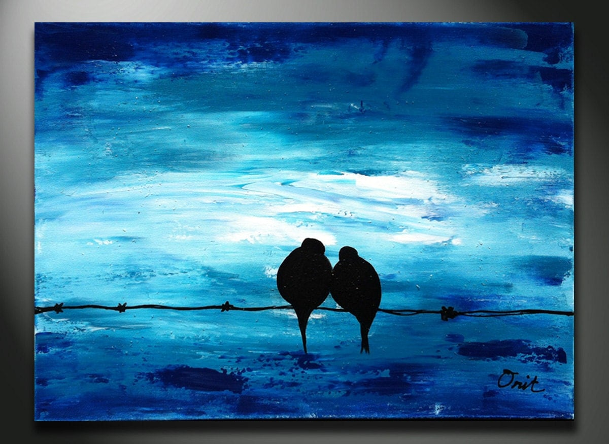 Items similar to BLUE Art Painting - Original Painting ...