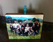 Wood Photo Block, 8x10- stained or painted wood with your picture added to it - gift, home decor, custom