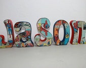 Personalized and Custom Wood Letters, Name, Last Name, Home Decor, Gift, Kids Room