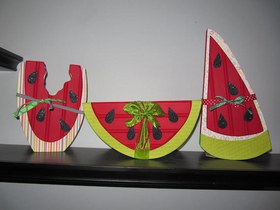 Wood Watermelon Decor, Watermelon Trio, Read to Ship SAVE 15% NOW