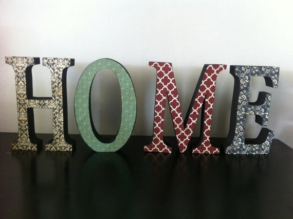 HOME Modern Wood Letters, Home Decor, Custom and Personalized Wood Letters, SAVE 15% Now