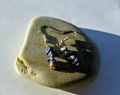 Short stacked lapis lazuli earrings