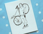 Strong bicyclist - Greeting Card