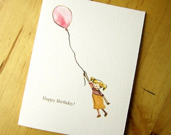 Happy Birthday Balloon - Greeting Card - Red Balloon