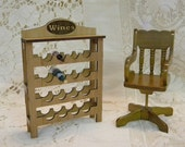 Wine Rack for bistro, store, bar or home dollhouse miniature