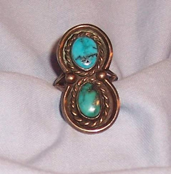 Reserved do not buy  Sterling Navaho turquoise ring marked by artist vintage jewelry