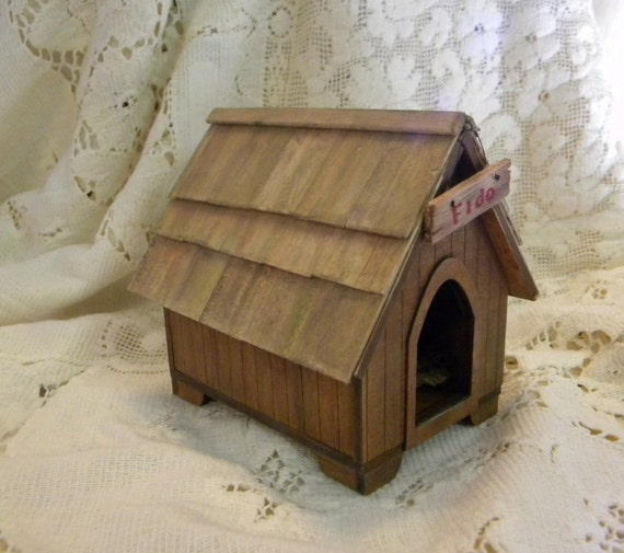 Doghouse for large dogs OOAK dollhouse miniature