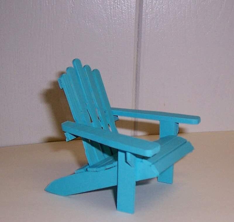 Adirondack Chair Dollhouse Miniature In 5 Color Choices