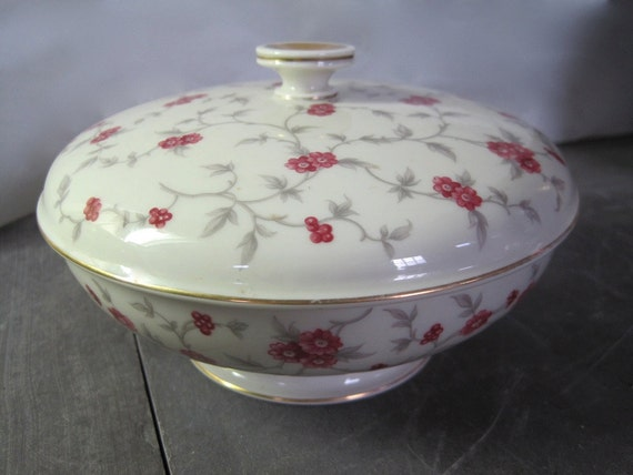 Vintage Rosenthal Round Covered Bowl, Winifred- Continental