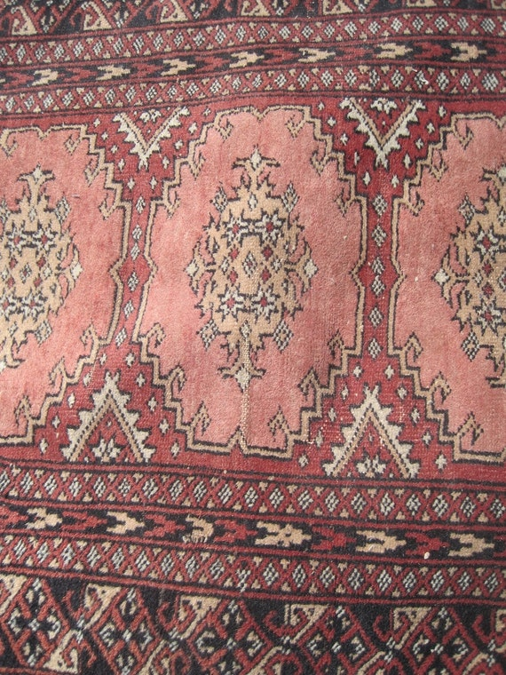Vintage Bokhara Rug Carpet Runner 32 inches x 98 inches