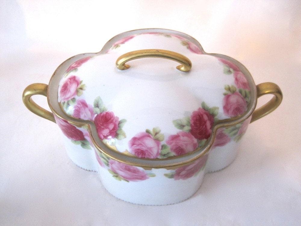 rosenthal kronach bavaria chrysanthemum porcelain covered dish