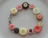 Neapolitan Button Bracelet  Gift For Her Under 20.00