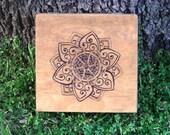 Celtic Lotus Keepsake box, Ready to ship.
