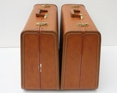 RESERVED Pair of 1950's Taperline Suitcases