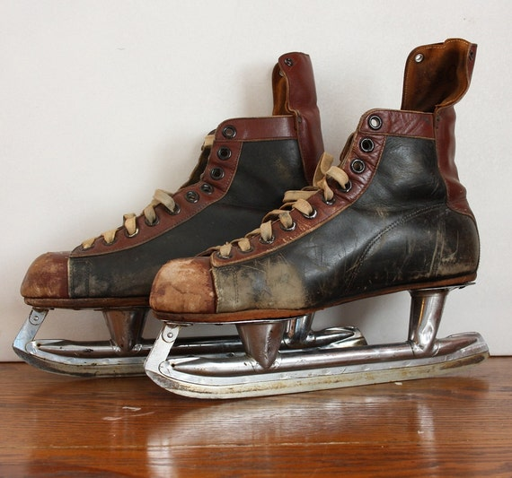 Vintage Men's Ice Hockey Skates - Made In Canada
