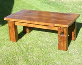 The Bartlett Barn Beam Coffee Table - Handmade with Reclaimed Wood by Arcadian Cottage