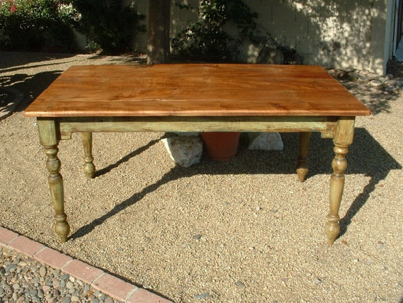 Harvest Plantation Farm Table - Handmade with Reclaimed Wood by Arcadian Cottage