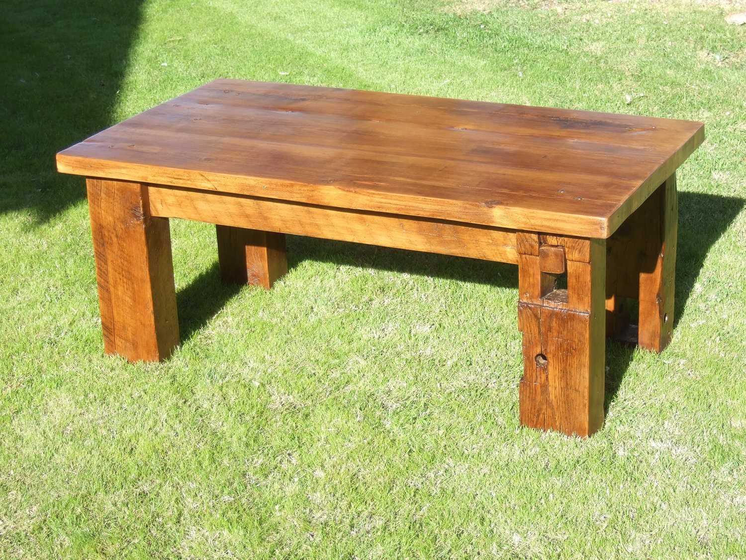 The Bartlett Barn Beam Coffee Table Handmade With Reclaimed
