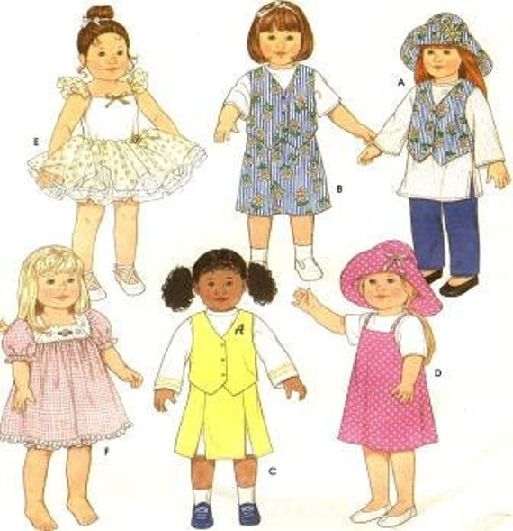 Simplicity 7444 18 IN Doll Clothes such as American Girl Doll AG Free USA Shipping