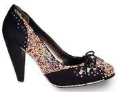 CLEARANCE: Sprinkles and Swarovski Crystals Statement High Heels Size 6.5