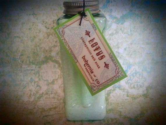Lotus Therapeutic Bath Salts 16oz - pain relief-detoxiification-therapeutic-lotus-bamboo