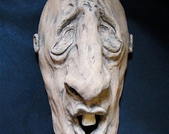 Ceramic Face Wall Sculpture /9 inch/ Medium