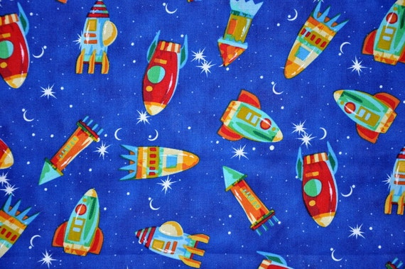 SPACESHIPS Cotton Fabric- 1 Yard