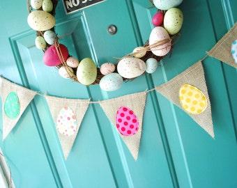 6 pennant Colorful Polka Dot Easter Egg Bunting/Banner/Pennant