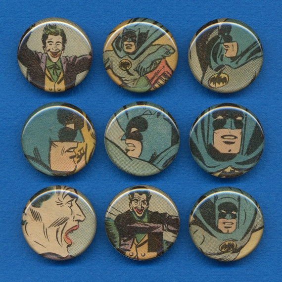 Superhero Magnet Set - the Batman and the Joker