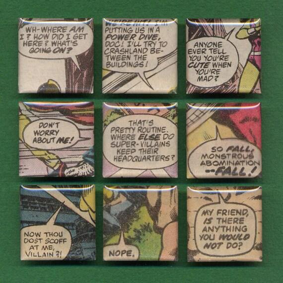 Comic Book Dialogue Magnet Set