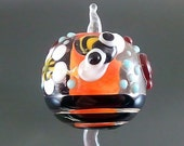 Pikalda : Handmade lampwork 1 bead glass colorful bee 'Honey Diamond' SRA make to order