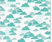 Hambly Studios, Inc. Overlay Rain Clouds Antique Teal Blue
