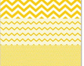 Hambly Studios, Inc. Overlay  Chevron Mash Up Yellow