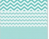 Hambly Studios, Inc. Overlay  Chevron Mash Up Antique Teal Blue