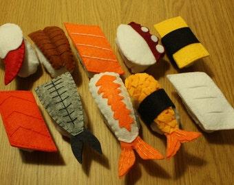 Felt sushi - Set of 10