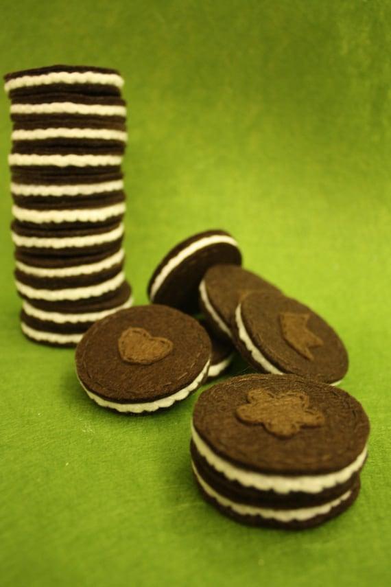 Felt Oreo Cookies - Set of 3
